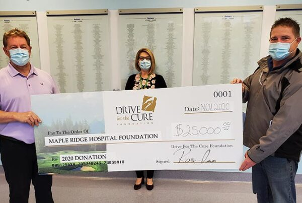 Drive for the Cure Cheque Presentation Featured
