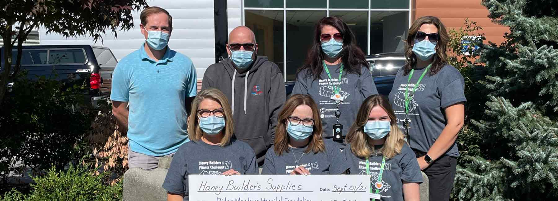 Haney Builders Presents Cheque for $13,500