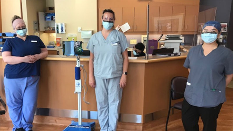 Oncology Team with Translator Stand LP